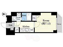 プレミアムキューブG渋谷神南 12階1Kの間取り