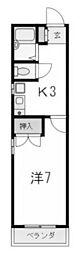 サイライトKANNO[202号室]の間取り
