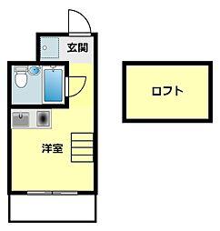愛知県岡崎市欠町字狐ケ入の賃貸アパートの間取り