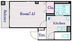 クレセント玉野[2階]の間取り