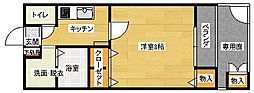 広島県広島市安佐南区祇園6丁目の賃貸アパートの間取り