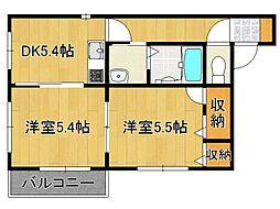 ファミール3[2階]の間取り