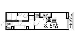 ソレイユ道[0101号室]の間取り