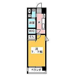 サニー東山[7階]の間取り
