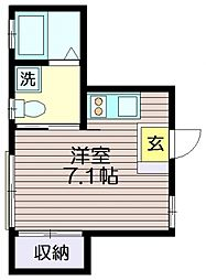 東京都世田谷区南烏山4丁目の賃貸アパートの間取り