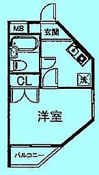 サンシティ中野島第二[3階]の間取り