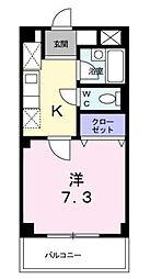 千葉県松戸市東松戸1丁目の賃貸マンションの間取り