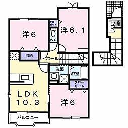 グランデ・フィオーレ I−C[2階]の間取り