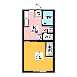 AME YAKIYAMA[1階]の間取り