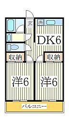 浜田第一マンション[4階]の間取り