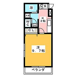 ユアホーム[2階]の間取り