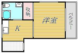 三田成増コーポ[4階]の間取り