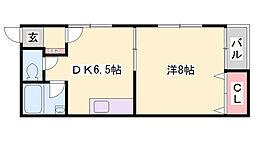 大澤ハイツ[2階]の間取り