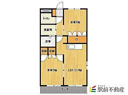サンシャインKATSUTA[1階]の間取り