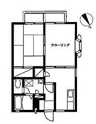 ジュネス湘南台[2階]の間取り