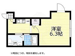 JR中央線 荻窪駅 徒歩7分の賃貸マンション 1階1Kの間取り