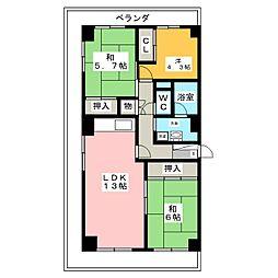 千種通スカイマンション 601号室[6階]の間取り