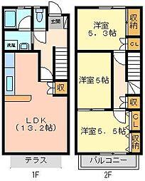 メゾネット都 弐番館[2階]の間取り