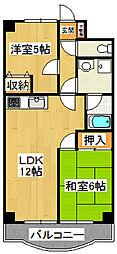 さつきマンション[307号室]の間取り