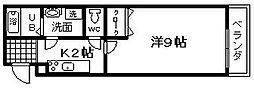 クローリスメゾン 1番館[11号室]の間取り