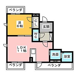 プレゼンス[2階]の間取り