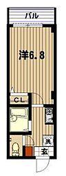 レフア南常盤台[4階]の間取り