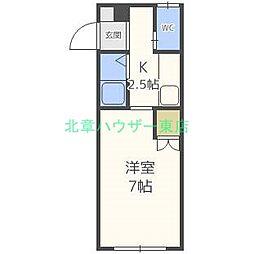 北海道札幌市東区北三十三条東1丁目の賃貸アパートの間取り