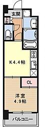 アクアプレイス京都洛南II[C203号室号室]の間取り