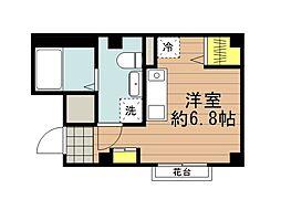 JR京浜東北・根岸線 さいたま新都心駅 徒歩12分の賃貸マンション 3階ワンルームの間取り