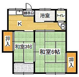 [一戸建] 福岡県大牟田市大字草木 の賃貸【/】の間取り