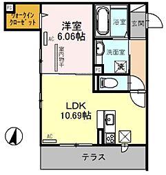 La Maison 1階1LDKの間取り