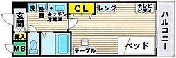 エスリード新梅田[9階]の間取り