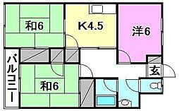松田マンション[202 号室号室]の間取り