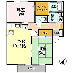 プリマヴェーラETO 2[1階]の間取り