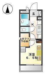 OMレジデンス上飯田[4階]の間取り