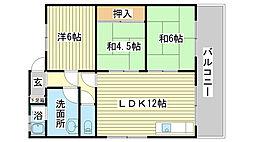 竹内マンション(西延末163)[203号室]の間取り