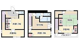 [一戸建] 愛知県名古屋市昭和区前山町1丁目 の賃貸【/】の間取り