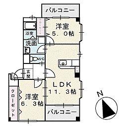 エンジェライトユリオウ 3階[301号室]の間取り