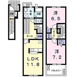 プリムローズK・3[2階]の間取り