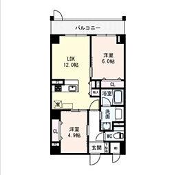 仮称)城東区鈴木マンション[1階]の間取り