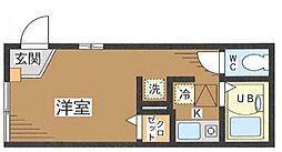 東京都目黒区目黒本町6丁目の賃貸アパートの間取り