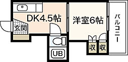 飯田コーポラス[4階]の間取り
