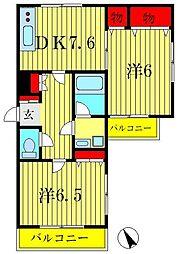 アートコート・アイ[2階]の間取り