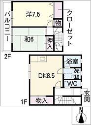 [タウンハウス] 三重県津市芸濃町小野平 の賃貸【/】の間取り