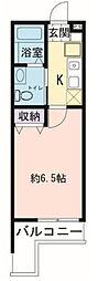 神奈川県横浜市港北区小机町の賃貸アパートの間取り