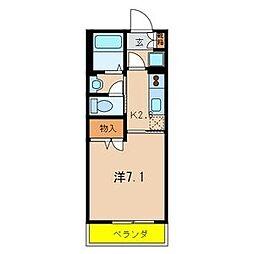 エクセルマンション[302号室]の間取り