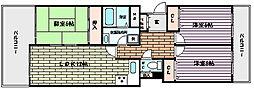 阪急神戸本線 王子公園駅 徒歩18分の賃貸マンション 3階3LDKの間取り