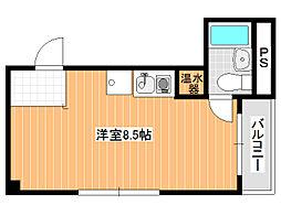 大阪府富田林市若松町1丁目の賃貸アパートの間取り
