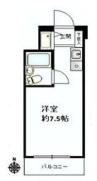 神奈川県川崎市幸区柳町の賃貸マンションの間取り