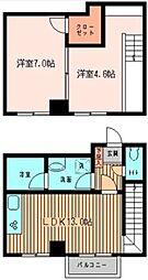 神奈川県川崎市麻生区上麻生2丁目の賃貸マンションの間取り